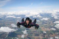 自由下落跳伞运动员 库存照片