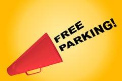 自由停车处概念 库存例证