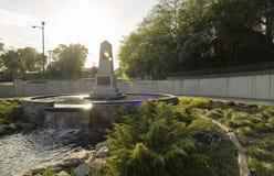 自由公园,菲耶特韦尔北部卡罗来纳州28 2012年3月:公园致力坎伯兰县武力退伍军人 库存照片