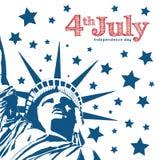 自由和民主的自由女神像标志 独立 免版税库存照片