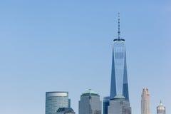 从自由国家公园看见的世界贸易中心 免版税库存图片
