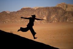 自由在沙漠 免版税库存图片