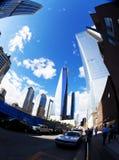 自由塔在街市纽约 免版税库存照片
