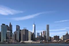 自由塔在街市纽约 免版税图库摄影