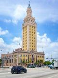 自由塔在街市迈阿密 图库摄影