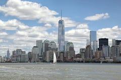 自由塔WTC,更低的曼哈顿 库存图片