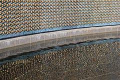 自由墙壁,其中每个星代表WWII的100个服务部门,华盛顿特区, 2015年 免版税库存照片