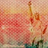 自由女神像剪贴薄纸 库存照片