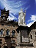 自由女神像在圣马力诺大广场  图库摄影