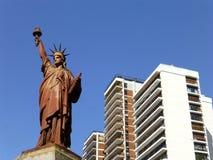 自由女神像在布宜诺斯艾利斯 库存照片