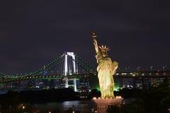 自由女神像复制品在东京,日本 免版税图库摄影