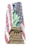自由女神像旗子 库存图片