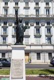 自由女神像的复制品在尼斯在法国 库存图片