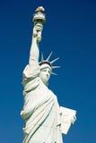 自由女神像的复制品在Las的新的约克新的约克 库存图片