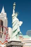 自由女神像的复制品在Las的新的约克新的约克 免版税库存图片