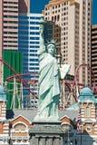 自由女神像的复制品在Las的新的约克新的约克 库存照片