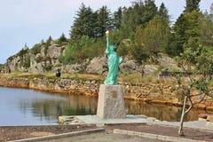 自由女神像的复制品,挪威 图库摄影