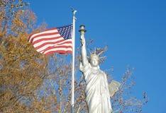 自由女神像的复制品 库存照片