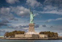 自由女神像的正面图,纽约 免版税库存照片