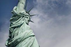 自由女神像的特写镜头 免版税库存照片