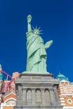 自由女神像雕象的相象在新的约克新的约克赌博娱乐场的 图库摄影