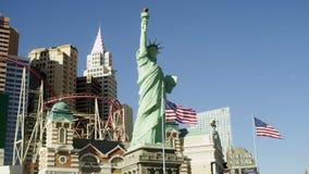 自由女神像,企业大厦,过山车在美国 股票录像