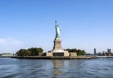自由女神像- 2017年7月31日,自由岛,纽约港口, NY 图库摄影