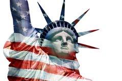 自由女神像-摘要 免版税库存照片
