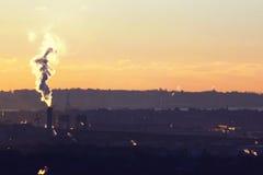 自由女神象,城市,看见从nj 库存照片