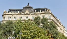 自由宫殿在布达佩斯,匈牙利 免版税库存图片