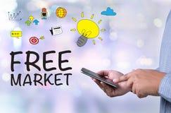自由市场 库存图片