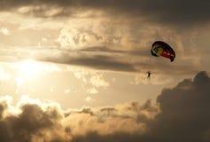 自由帆伞运动 图库摄影