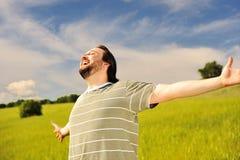 自由幸福人 免版税库存照片
