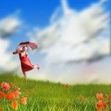 自由幸福 免版税库存照片