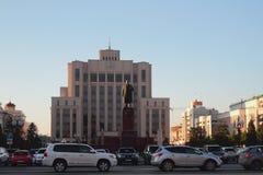 自由广场 喀山俄国 免版税库存图片