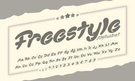 自由式字体系列 库存图片