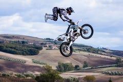 自由式摩托车越野赛展示套头衫 免版税库存图片