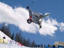 自由式滑雪 库存照片