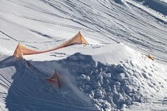 自由式跳跃的被操刀的喷射器 免版税库存图片