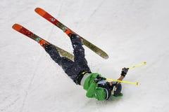 自由式滑雪世界杯在大空气米兰期间的实践天 库存图片