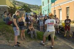 自由徒步游览,开普敦,南非 免版税库存照片