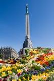 自由拉脱维亚纪念碑里加 免版税库存图片