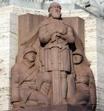 自由拉脱维亚纪念碑里加 免版税库存照片