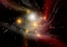 自由星系空间 库存图片