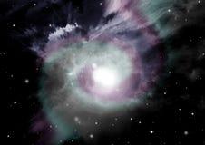自由星系空间 免版税库存图片