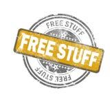 自由材料黄色葡萄酒邮票 向量例证