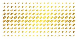 自由标记金黄半音栅格 向量例证