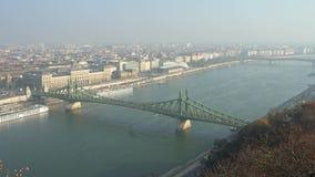自由桥梁下午鸟瞰图  影视素材