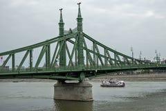 自由桥梁在布达佩斯匈牙利03 库存照片