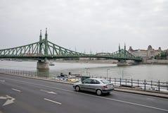 自由桥梁在布达佩斯匈牙利01 库存照片